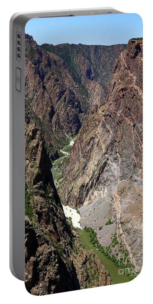 Black Canyon Of The Gunnison Portable Battery Charger featuring the photograph Painted Wall Black Canyon Of The Gunnison by Christiane Schulze Art And Photography