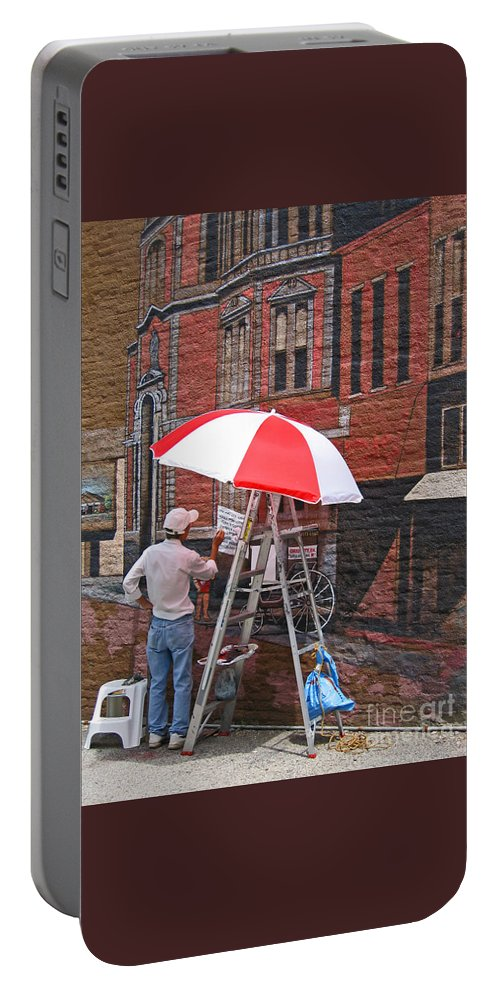Artist Portable Battery Charger featuring the photograph Painting The Past by Ann Horn
