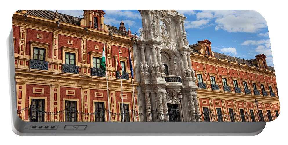 Seville Portable Battery Charger featuring the photograph Palace Of San Telmo In Seville by Artur Bogacki