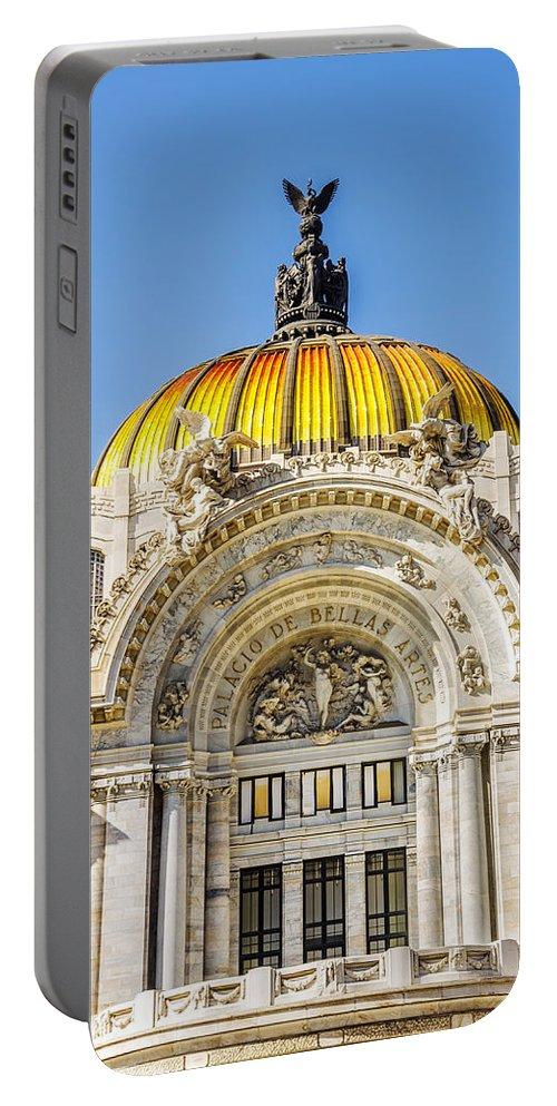 Mexico Portable Battery Charger featuring the photograph Palacio De Bellas Artes by Jess Kraft