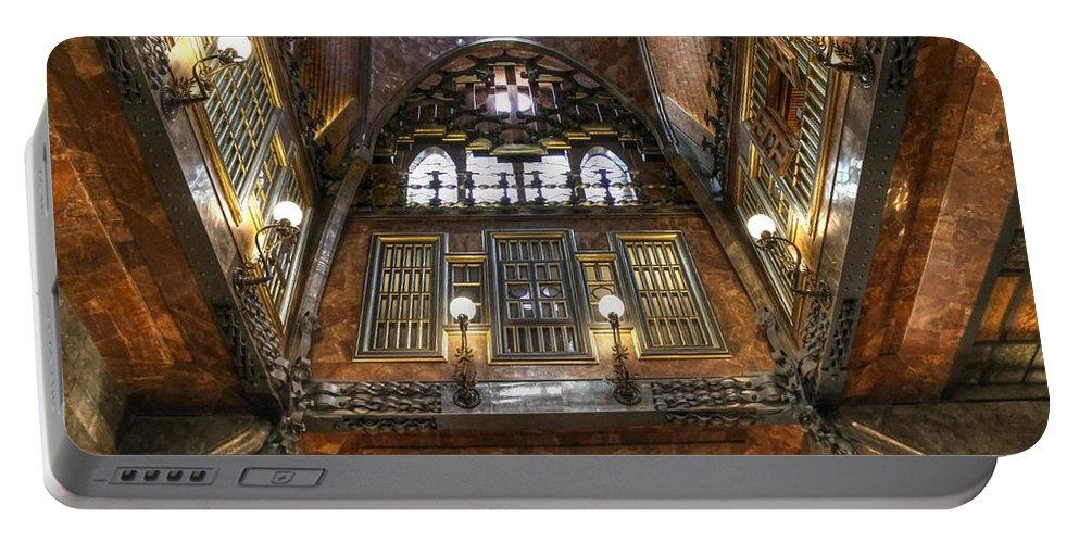 Palau Guell Portable Battery Charger featuring the photograph Palau Guell by Jane Linders