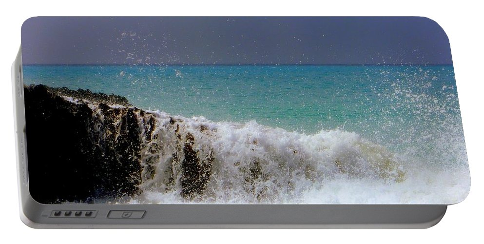 Waterscapes Portable Battery Charger featuring the photograph Palette Of God by Karen Wiles