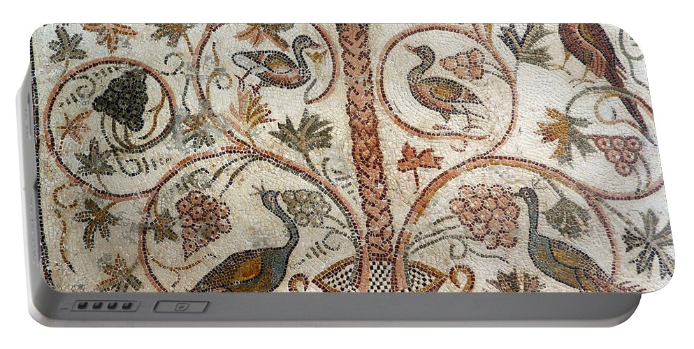 Art Portable Battery Charger featuring the photograph Palm Tree And Birds by Paul Fell