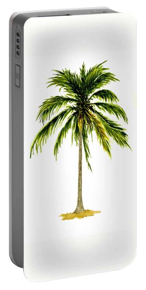 Palm Tree Portable Battery Charger featuring the painting Palm Tree Number 2 by Michael Vigliotti