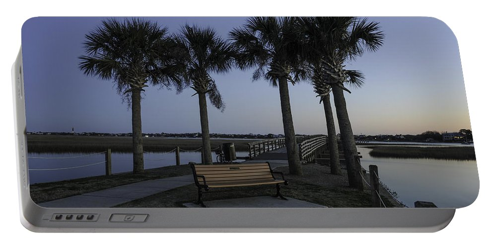 Palmetto Portable Battery Charger featuring the photograph Palmetto View To Old Pitt Street Bridge by Dale Powell