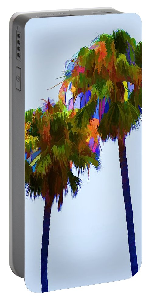 Palm Tree Portable Battery Charger featuring the photograph Palms 8 by Pamela Cooper