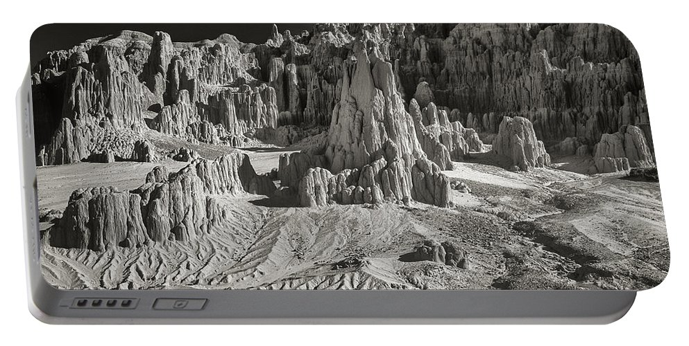 North America Portable Battery Charger featuring the photograph Panaca Sandstone Formations In Black And White Nevada Landscape by Dave Welling