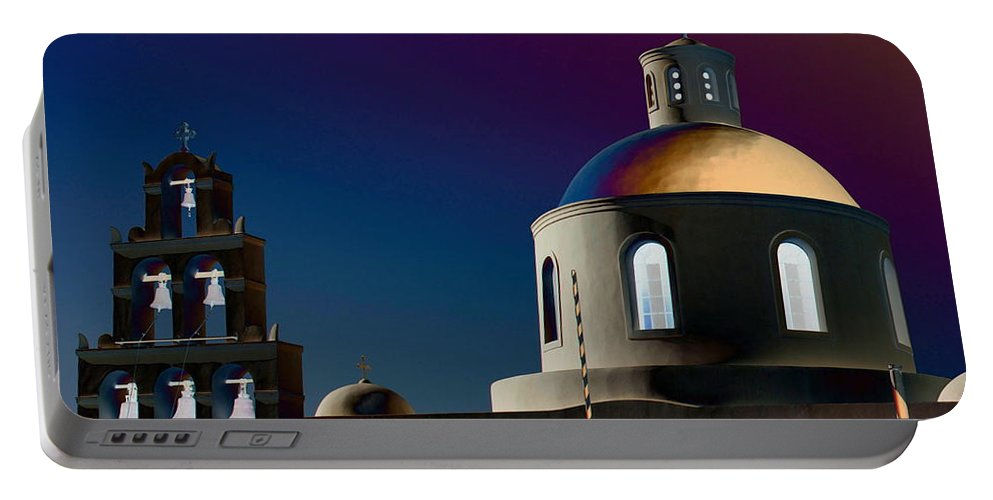 Mark J Dunn Portable Battery Charger featuring the photograph The Church Of Panagia Of Platsani by Mark J Dunn