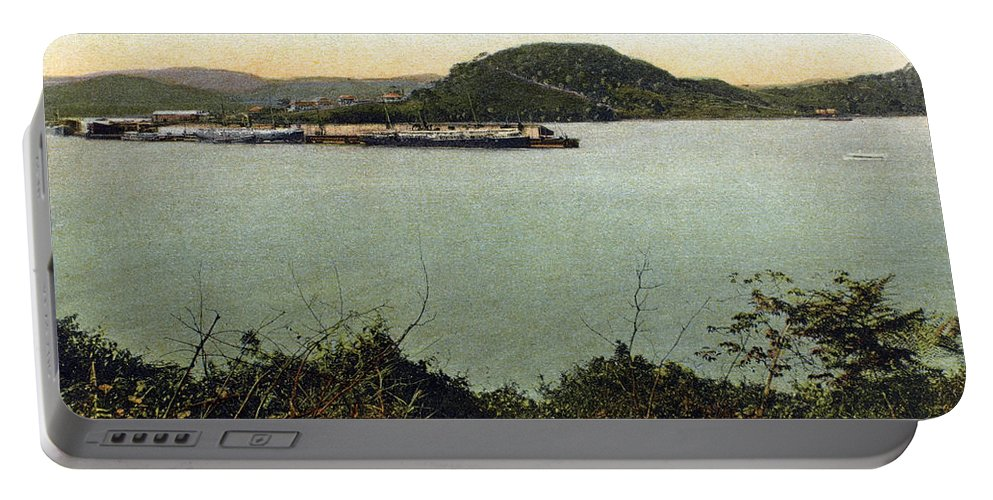 1910 Portable Battery Charger featuring the photograph Panama Canal La Boca by Granger