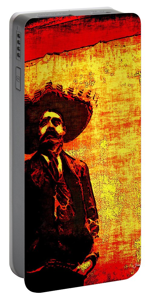Arango Portable Battery Charger featuring the photograph Pancho Villa by Joan Minchak