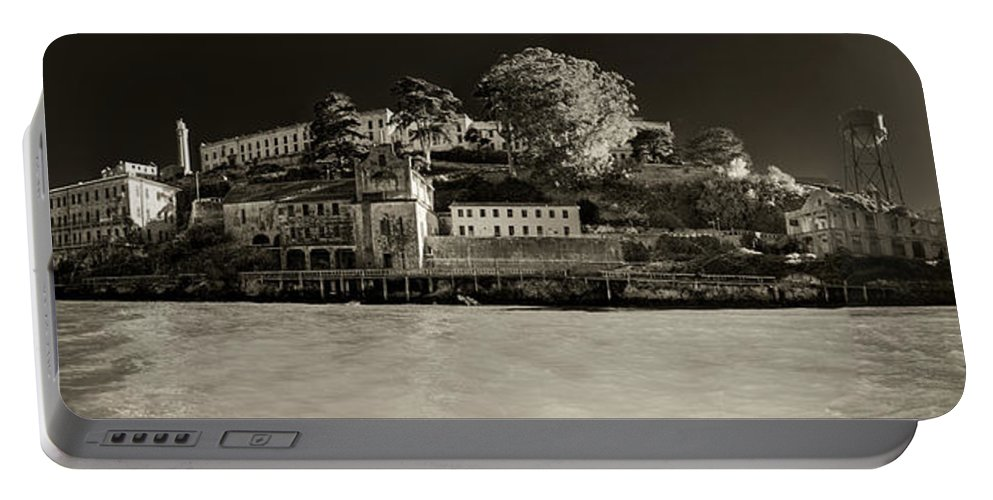 Alcatraz Portable Battery Charger featuring the photograph Panorama Alcatraz Up Close by Scott Campbell