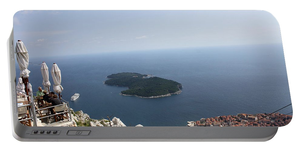 Dubrovnik Portable Battery Charger featuring the photograph Panoramo Restaurant by David Nicholls