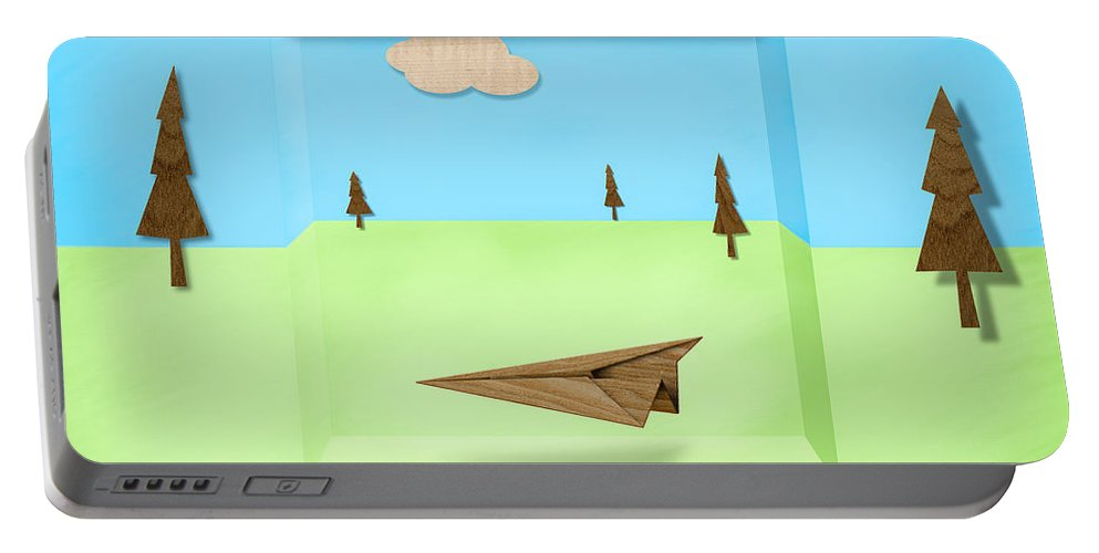 Aircraft Portable Battery Charger featuring the photograph Paper Airplanes Of Wood 11 by YoPedro
