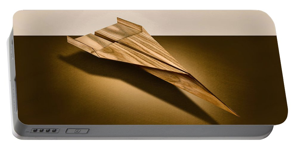 Aircraft Portable Battery Charger featuring the photograph Paper Airplanes Of Wood 3 by YoPedro