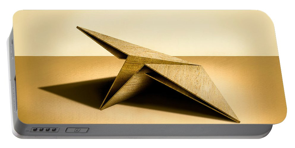 Paper Airplane Portable Battery Charger featuring the photograph Paper Airplanes of Wood 7 by YoPedro