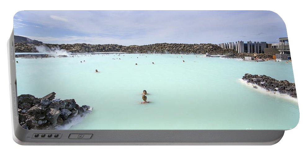 Blue Lagoon Portable Battery Charger featuring the photograph Paradise - Found by Evelina Kremsdorf