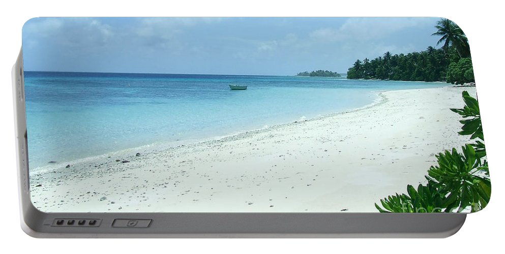 Sea Portable Battery Charger featuring the photograph Paradise Is Here by Andrea Anderegg