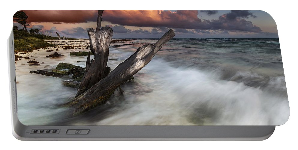 Sunset Portable Battery Charger featuring the photograph Paradise Lost by Mihai Andritoiu
