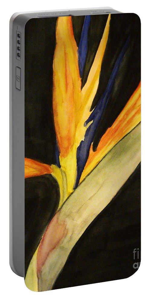 Water Color Flower Portable Battery Charger featuring the painting Paradise by Yael VanGruber