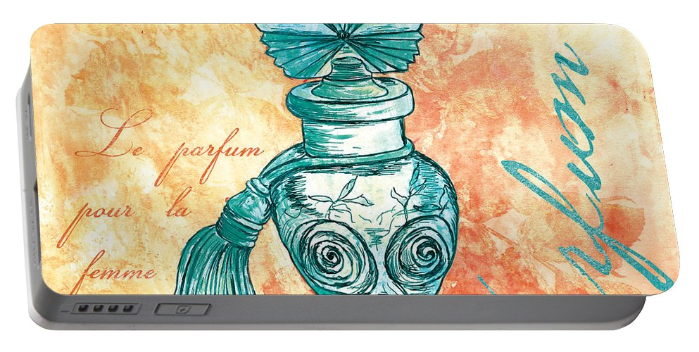 Perfume Portable Battery Charger featuring the painting Parfum by Debbie DeWitt