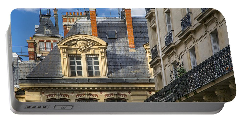 Architectural Portable Battery Charger featuring the photograph Paris Architecture by Brian Jannsen