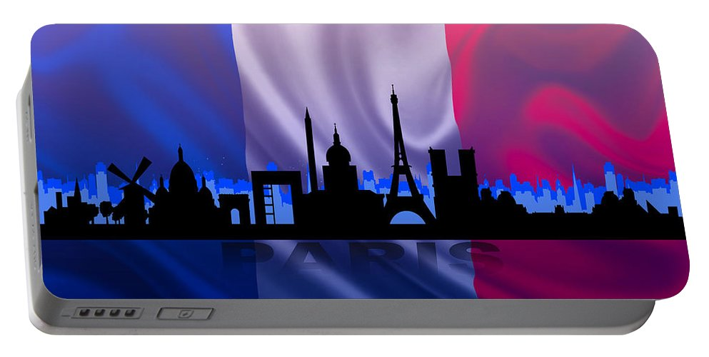 Architecture Portable Battery Charger featuring the digital art Paris City by Don Kuing