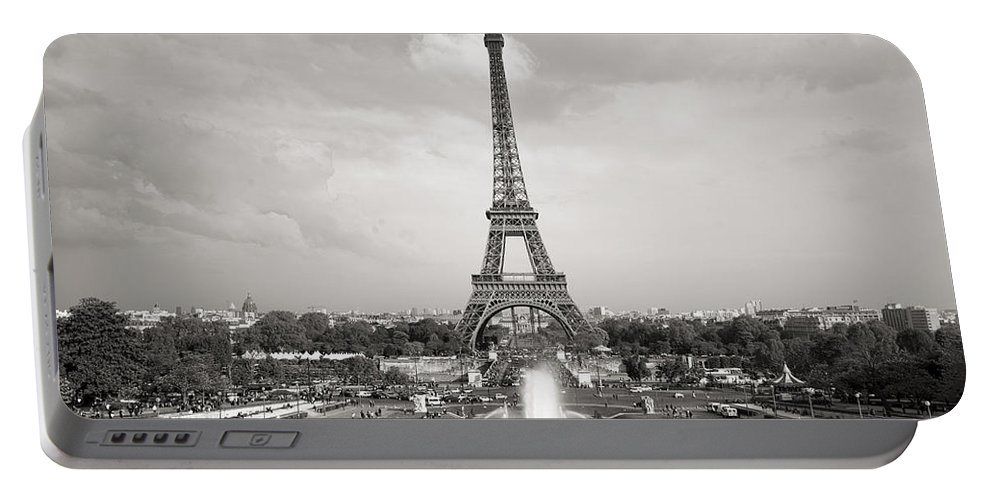 Eiffel Tower Portable Battery Charger featuring the photograph Paris Eiffel Tower by For Ninety One Days