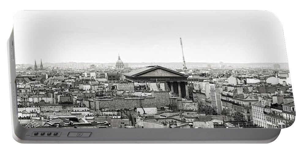 Paris Portable Battery Charger featuring the photograph Paris Panorama by For Ninety One Days