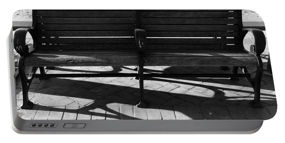 Bench Portable Battery Charger featuring the photograph Park Bench by Paul Wilford
