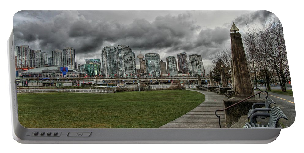 Vancouver Portable Battery Charger featuring the photograph Park View by Brigitte Mueller