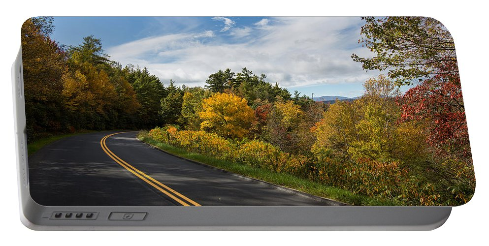Nc Portable Battery Charger featuring the photograph Parkway Milepost 357 by John Haldane