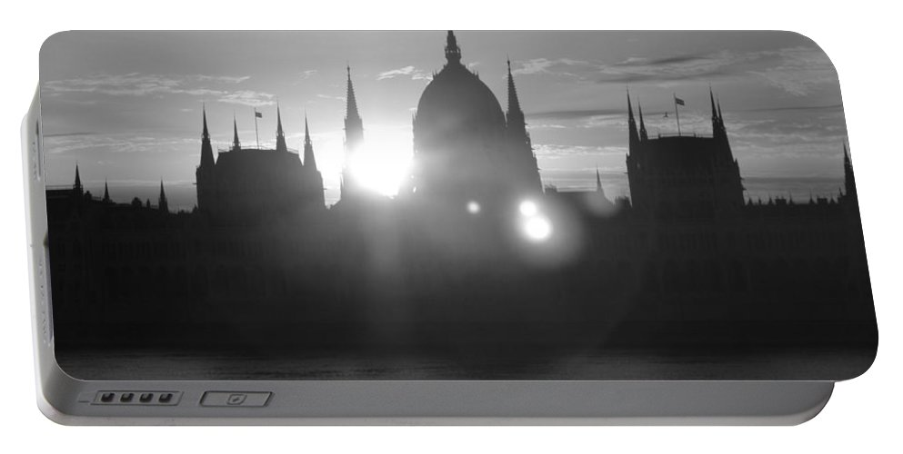 Portable Battery Charger featuring the photograph Parliament Rising by Jennifer Ann Henry