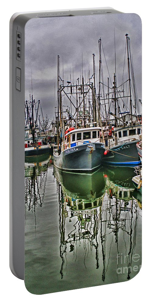 Fishing Boats Portable Battery Charger featuring the photograph Parr Four And Old Salt by Randy Harris