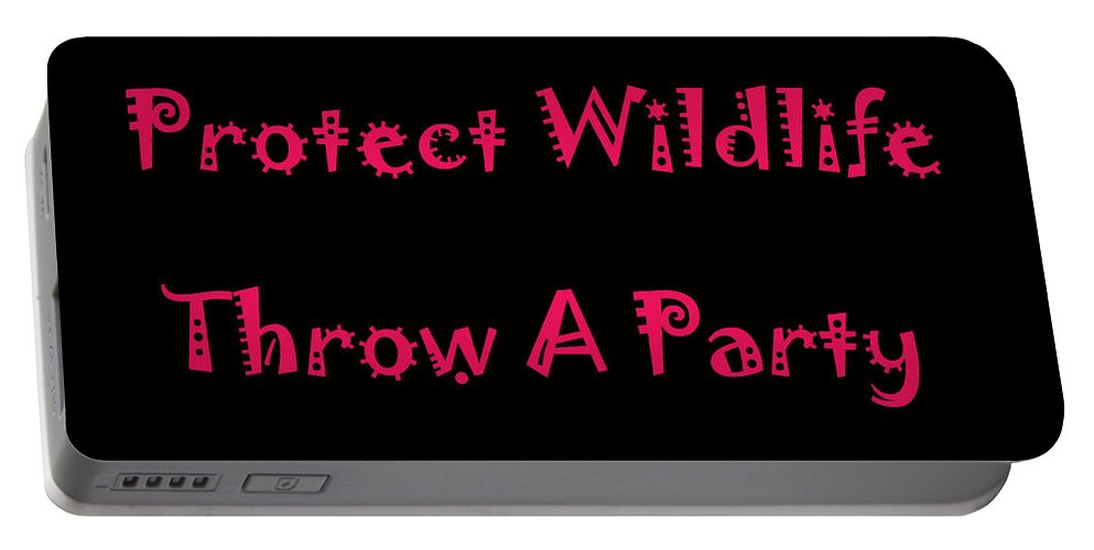 Sign Portable Battery Charger featuring the photograph Party 4 by Aimee L Maher ALM GALLERY