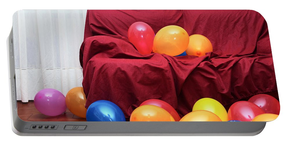 Air Portable Battery Charger featuring the photograph Party Balloons by Carlos Caetano