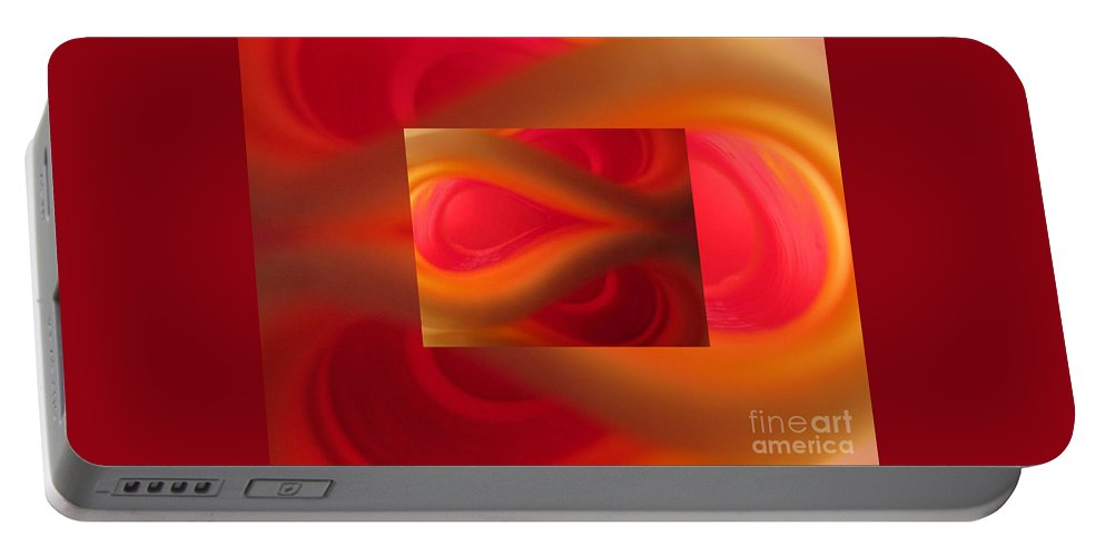 Passion Portable Battery Charger featuring the photograph Passion Abstract 02 by Ausra Huntington nee Paulauskaite