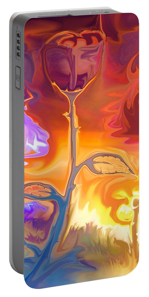 Bloom Painting Portable Battery Charger featuring the photograph Passion by Sotiris Filippou