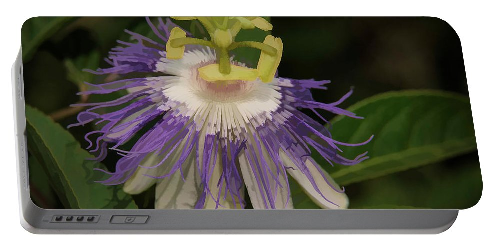 Cades Cove Portable Battery Charger featuring the photograph Passionflower by Charlie Choc