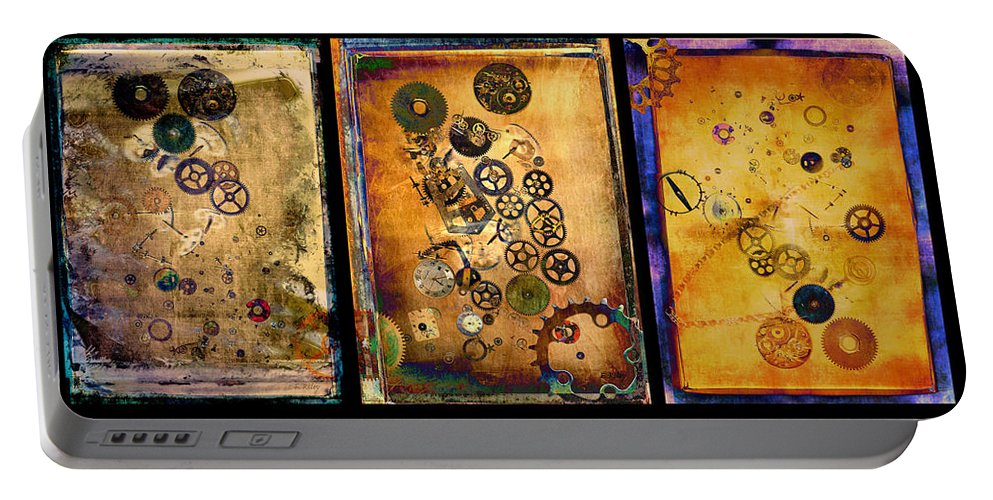 Future Portable Battery Charger featuring the photograph Past-present-future-triptych by Fran Riley