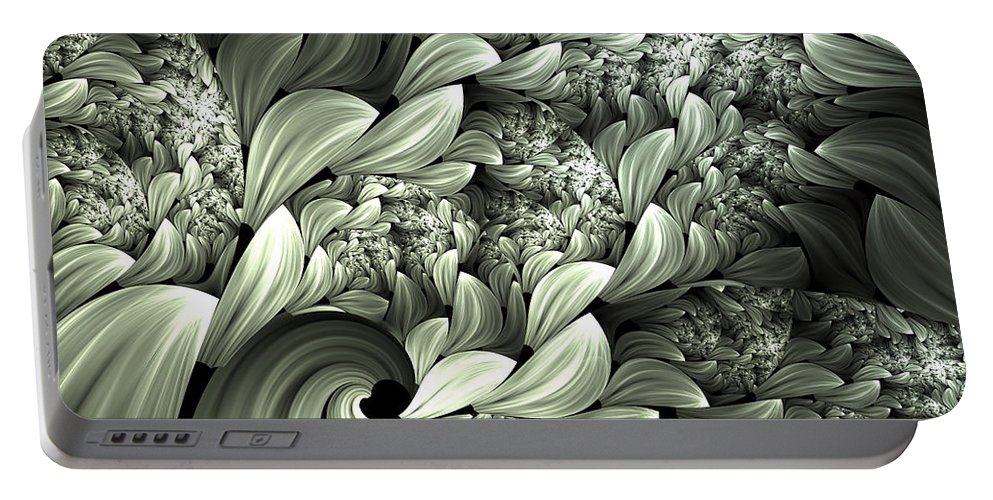 Abstract Portable Battery Charger featuring the digital art Pastel Garden Abstract by Georgiana Romanovna