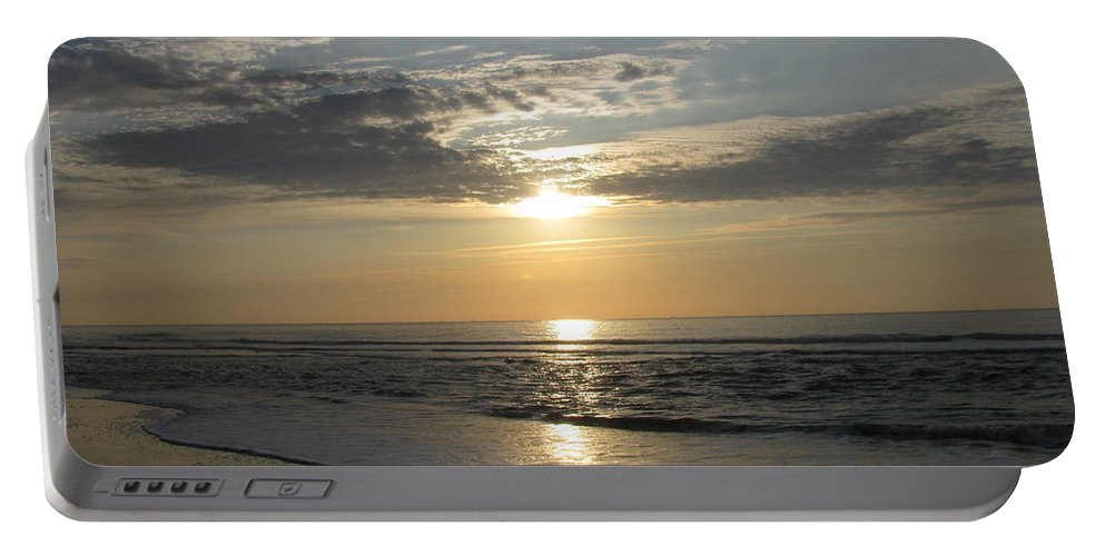 Landscape Portable Battery Charger featuring the photograph Pastel Sunrise by Ellen Meakin