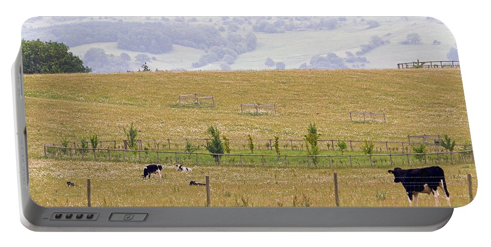 Grazing Portable Battery Charger featuring the photograph Pastoral by Keith Armstrong
