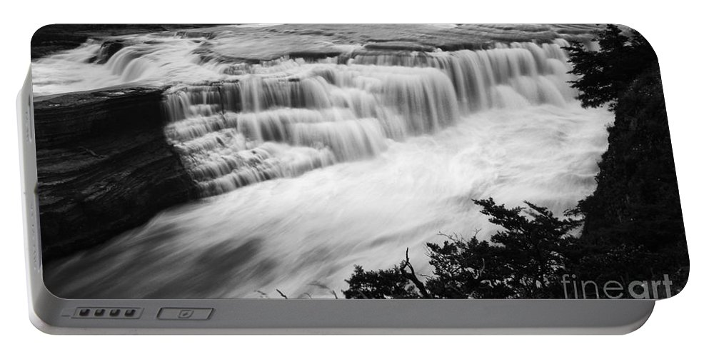 Chile Portable Battery Charger featuring the photograph Patagonia Rio Glaciar Waterfall by Bob Christopher
