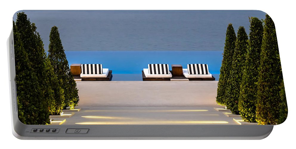 Swimming Pool Portable Battery Charger featuring the photograph Path Leading To Heaven by Sotiris Filippou