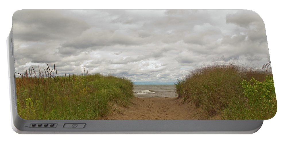 Landscape Portable Battery Charger featuring the photograph Path To The Beach 12058 by Guy Whiteley