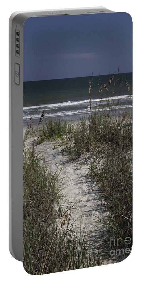 Surfside Portable Battery Charger featuring the photograph Path To The Beach by Teresa Mucha