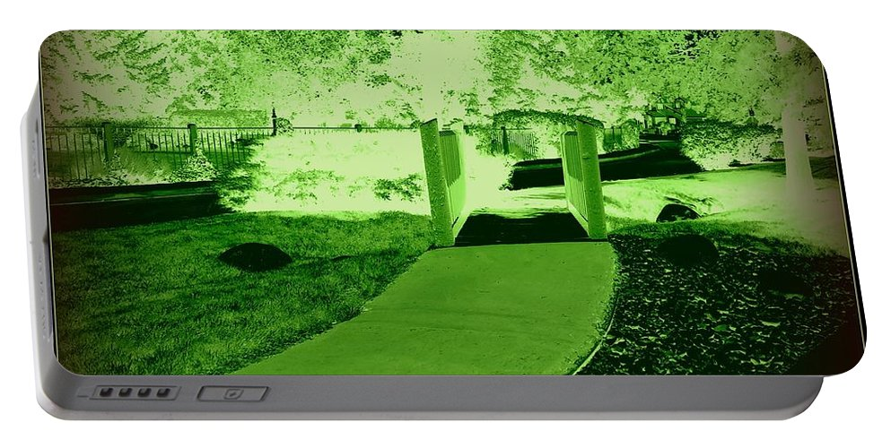 Canvas Prints Portable Battery Charger featuring the digital art Pathway Beyond by Bobbee Rickard