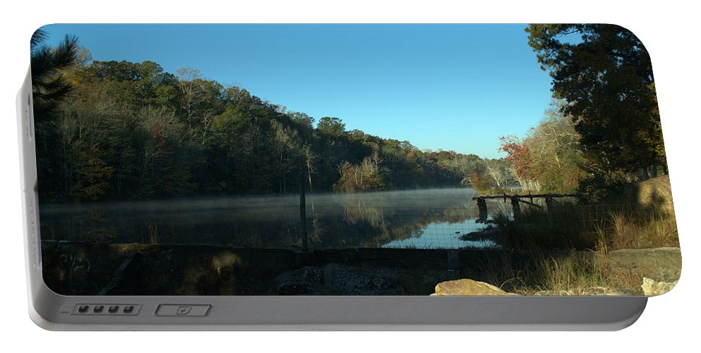 Lake Portable Battery Charger featuring the photograph Patsiliga Creek Lake by Donna Brown