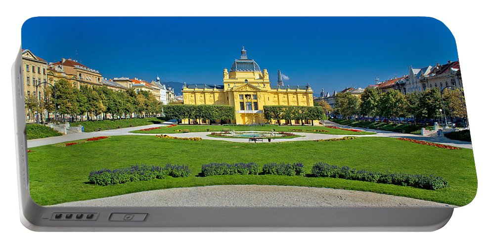 Zagreb Portable Battery Charger featuring the photograph Pavillion In Green Park Of Zagreb by Brch Photography