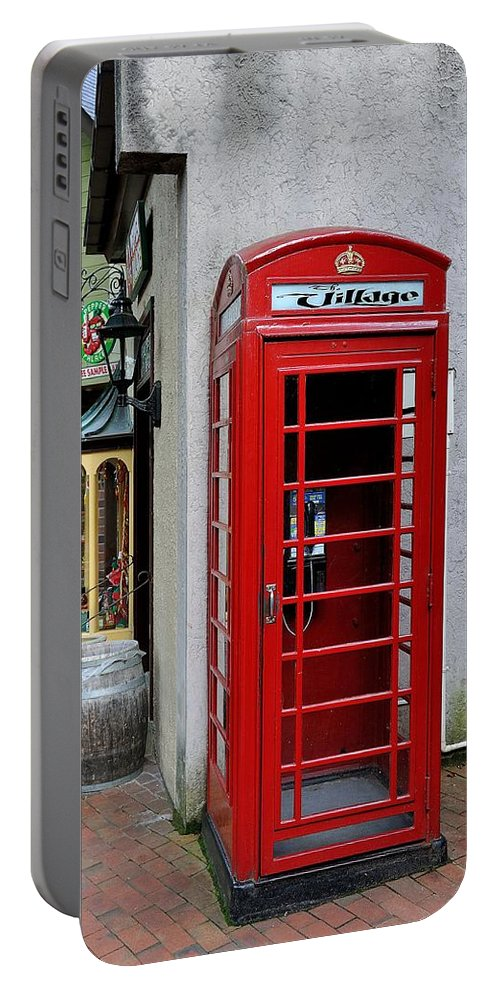 Pay Phone Portable Battery Charger featuring the photograph Pay Phone by Todd Hostetter